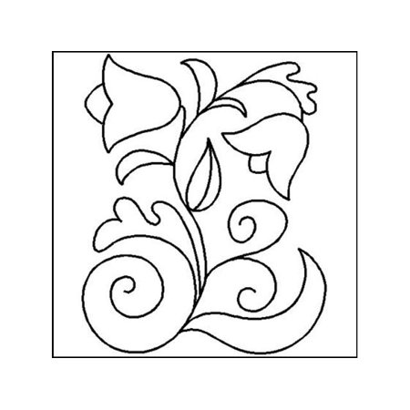(Quilting Creations Stencil Bohemian Flower 8 x 10