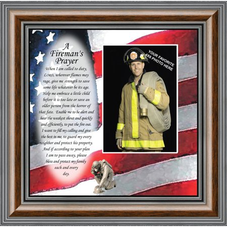 Fireman, Personalized Picture Frame Gift for Firefighter, 10X10 6795 (Personalized Firefighter Gifts)