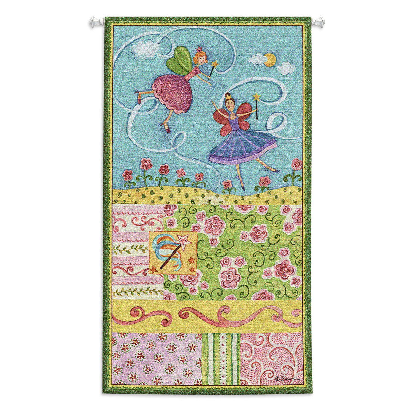 Click here to buy Fine Art Tapestries Patchwork Fairy II Wall Tapestry by Supplier Generic.