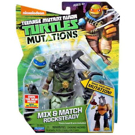 Teenage Mutant Ninja Turtles Mutations Mix & Match Rocksteady Action Figure [2017] (Ninja Turtles 2017)