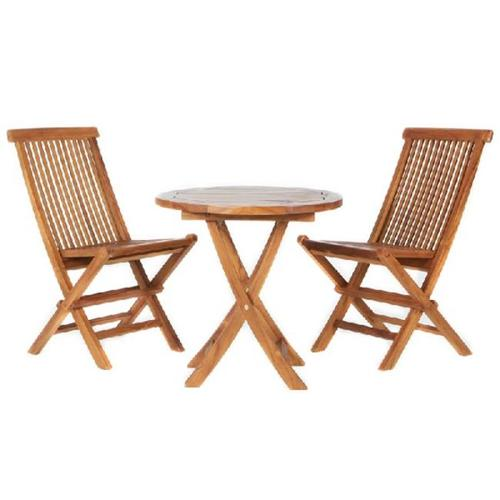All Things Cedar TS26-Set 3pc. Teak Bistro Set- Western Red Cedar by All Things Cedar