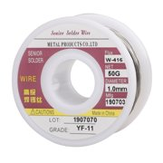 Tin Lead Core Solder Wire Tin 60%-Pb 40%, Flux 1.8% for Electrical Soldering 50g/1.8oz Diameter 0.039 Inch/1mm, for Electrical Soldering