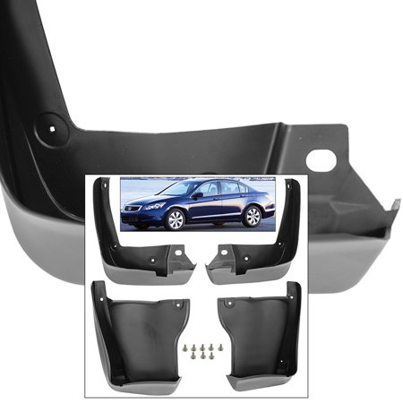Front Rear Mud Flaps Splash Guards 2008-2012 For Honda Accord Sedan Mudguards