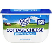 Dean's Country Fresh 1% Milk Fat Small Curd Cottage Cheese, 24 Oz.