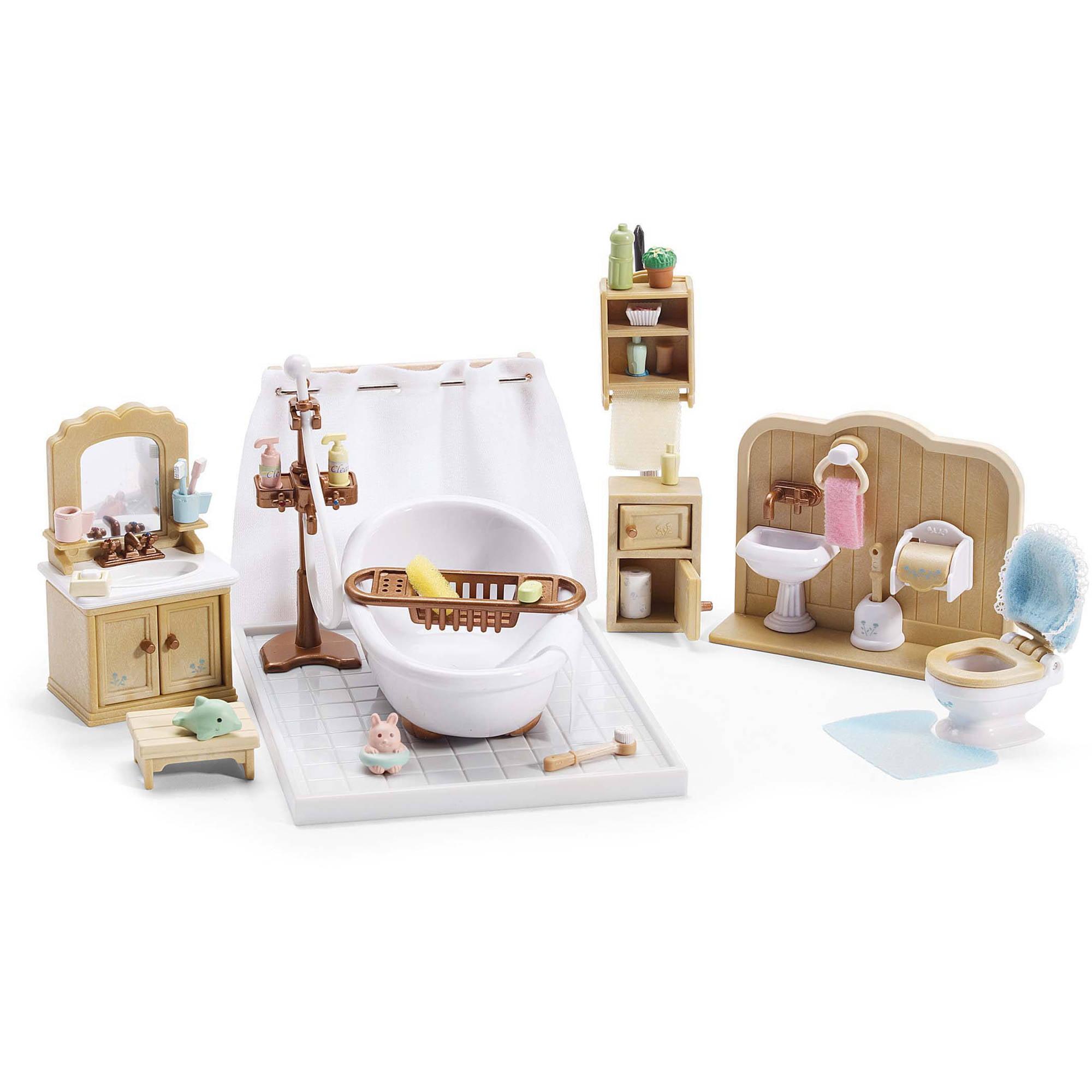 Calico Critters Deluxe Bathroom Set