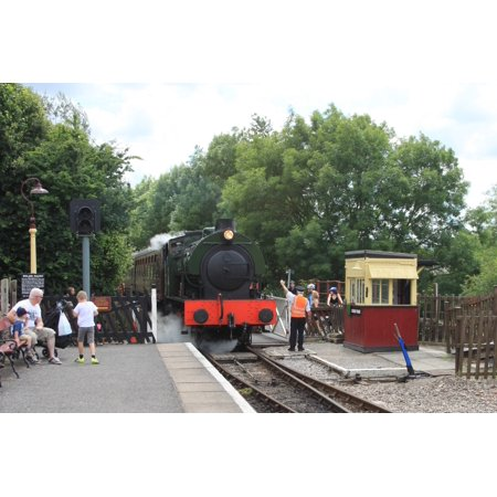 Laminated Poster Austerity Saddle Tank Wd132 Arriving At Bitton With A Train From Avon Riverside  Poster Print 24 X 36
