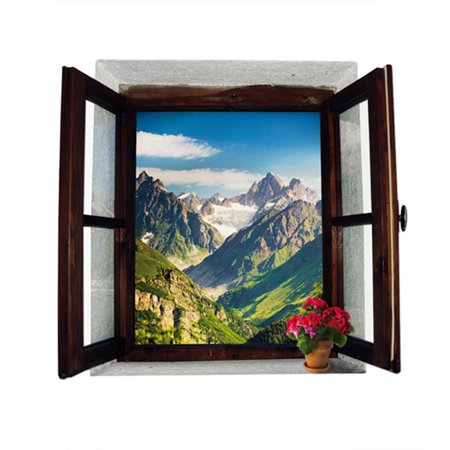 3d window view scenery sticker decoration diy removable wall sticker