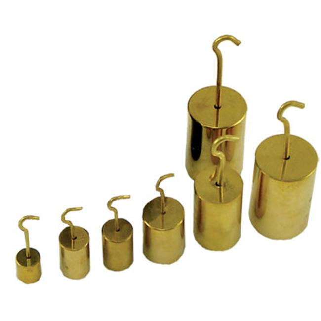 Ginsberg Scientific 7-2500-10 Weights - Hooked - Nickel Plated Brass - 500 grams