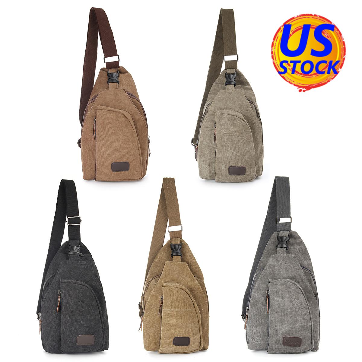 Men/'s Vintage Canvas Shoulder Messenger Travel Hiking Satchel Bag