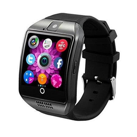 Antimi Smartwatch Sweatproof Smart Watch Phone For Android Htc Sony Samsung Lg Google Pixel  Pixel And Iphone 5 5S 6 6 Plus 7 Smartphones Black