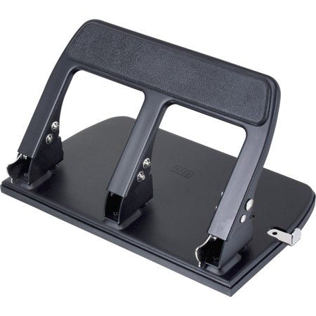 Officemate OIC Heavy Duty 3-Hole Punch with Padded Handle, 40-Sheet Capacity, Black (90089) 160 Sheet High Capacity Punch