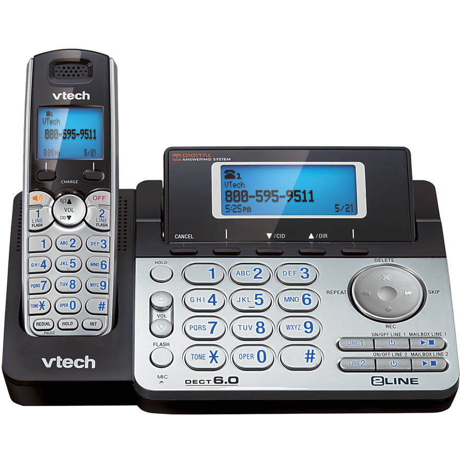 VTech DS6151 2-Line Expandable Cordless Phone with Digital Answering System, Caller ID
