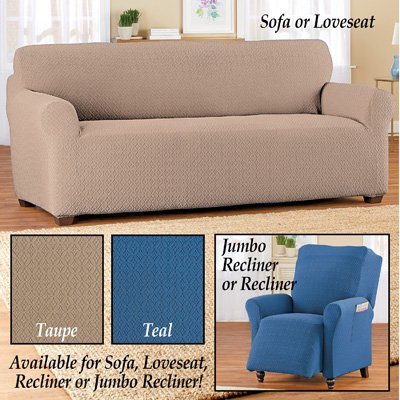 Form Fit Diamond Slipcover With Side Pockets Classic