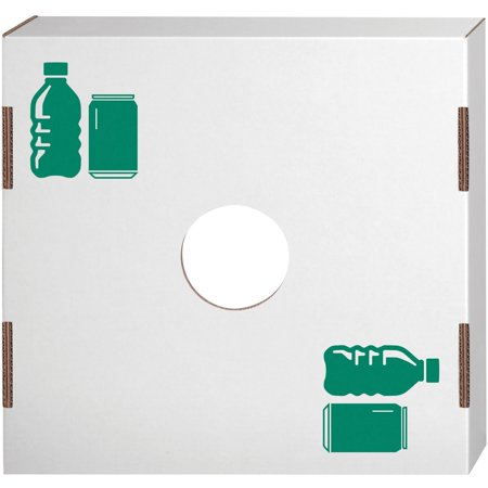 Recycle Green (Bankers Box Waste and Recycling Bin Lids - Bottles/Cans)