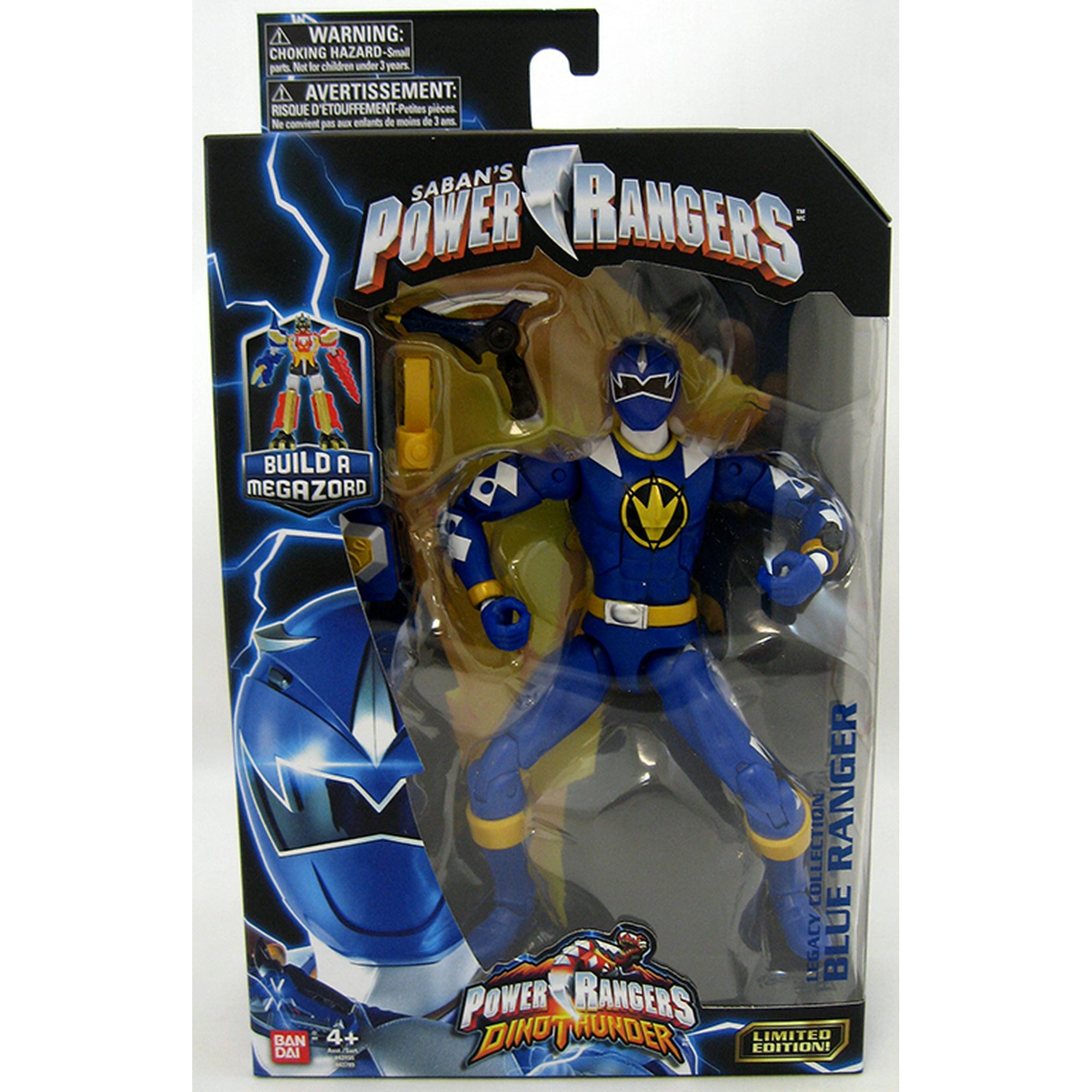 Power Rangers Legacy 6 Inch Action Figure Thundersaurus Megazord Series -  Blue Ranger Dino Thunder