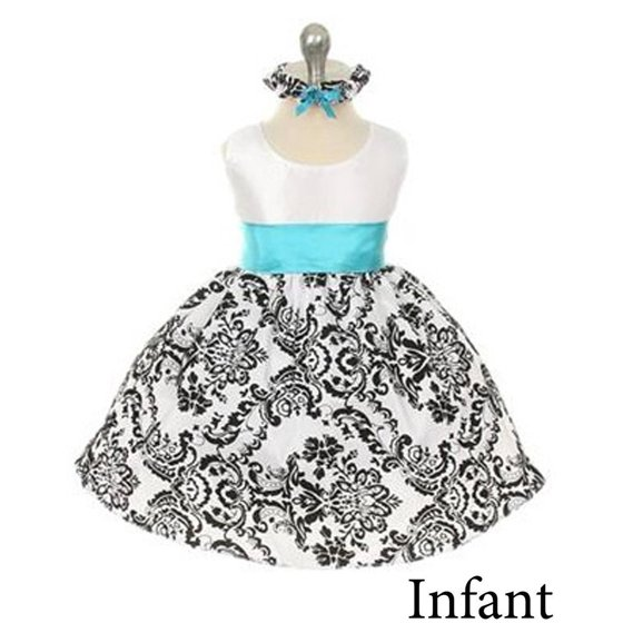 b45a1973489c ... do not bleach; hang drySize:2yrs~12yrs**The Images reflect the actual  product color** Efavormart Lovely Girls Dress with Black Velvet Flocked  Damask On ...