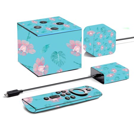 Skin For Amazon Fire TV Cube (2019) - Water Flowers | MightySkins Protective, Durable, and Unique Vinyl Decal wrap cover | Easy To Apply, Remove, and Change