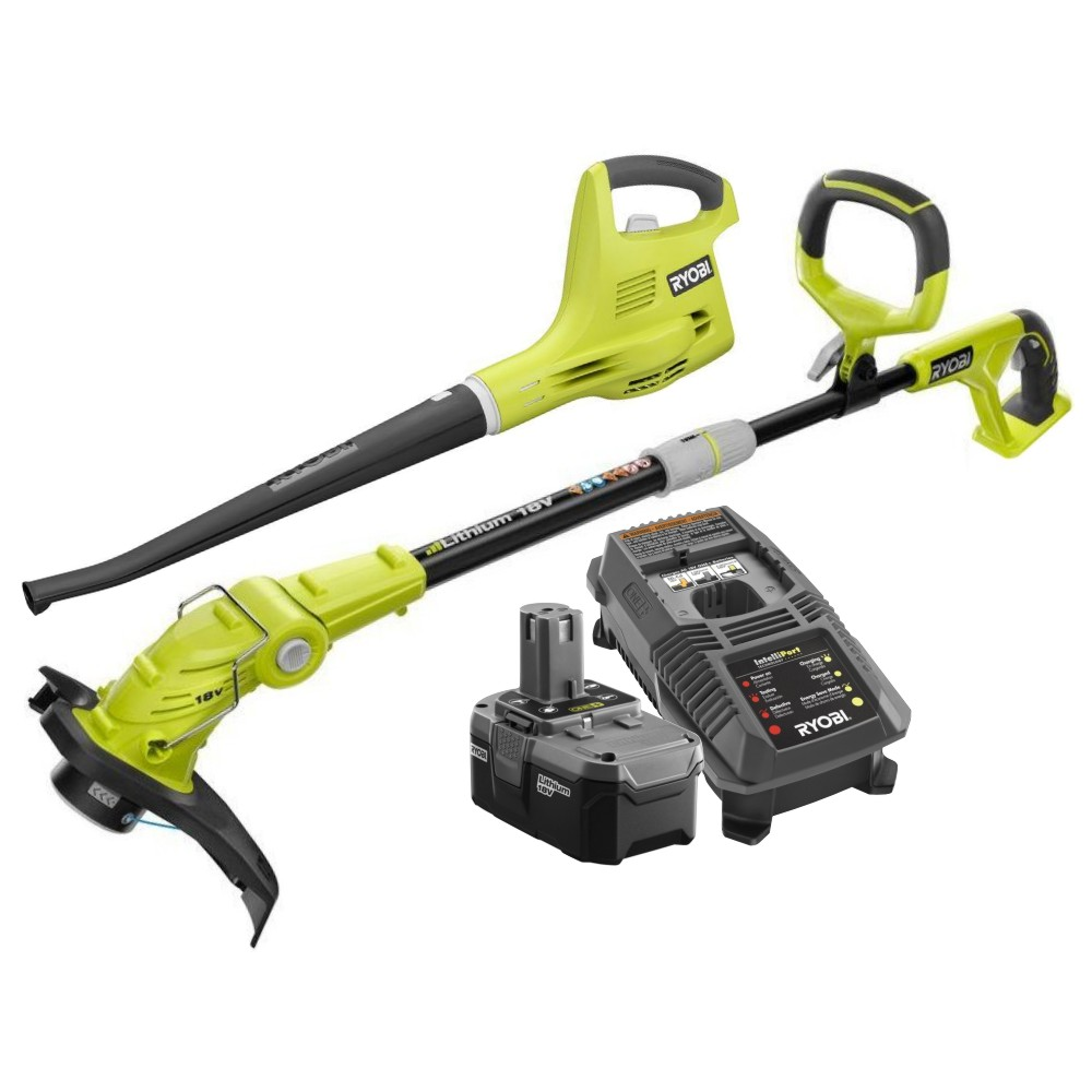Ryobi P2013 ONE+ 18-Volt Lithium-ion String Trimmer/Edger...