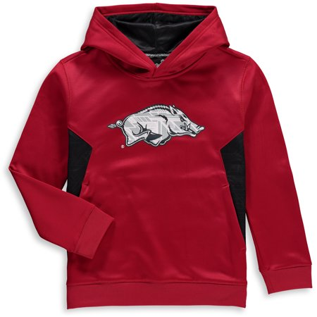 Arkansas Razorbacks Youth Shattered Poly Pullover Hoodie - Cardinal