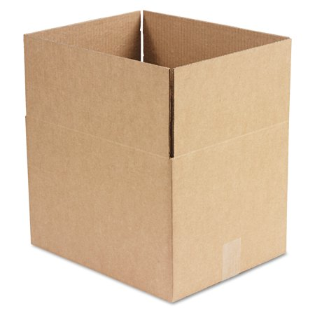 General Supply Brown Corrugated - Fixed-Depth Shipping Boxes, 15l x 12w x 10h, 25/Bundle - Round Cardboard Boxes
