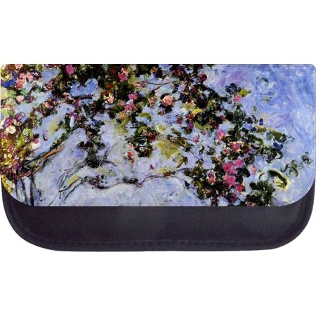 Nylon Painting Case (Monet's Rose Bush Painting Print Design - 5