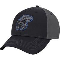 Men's Charcoal Kansas Jayhawks Blackball Adjustable Hat - OSFA