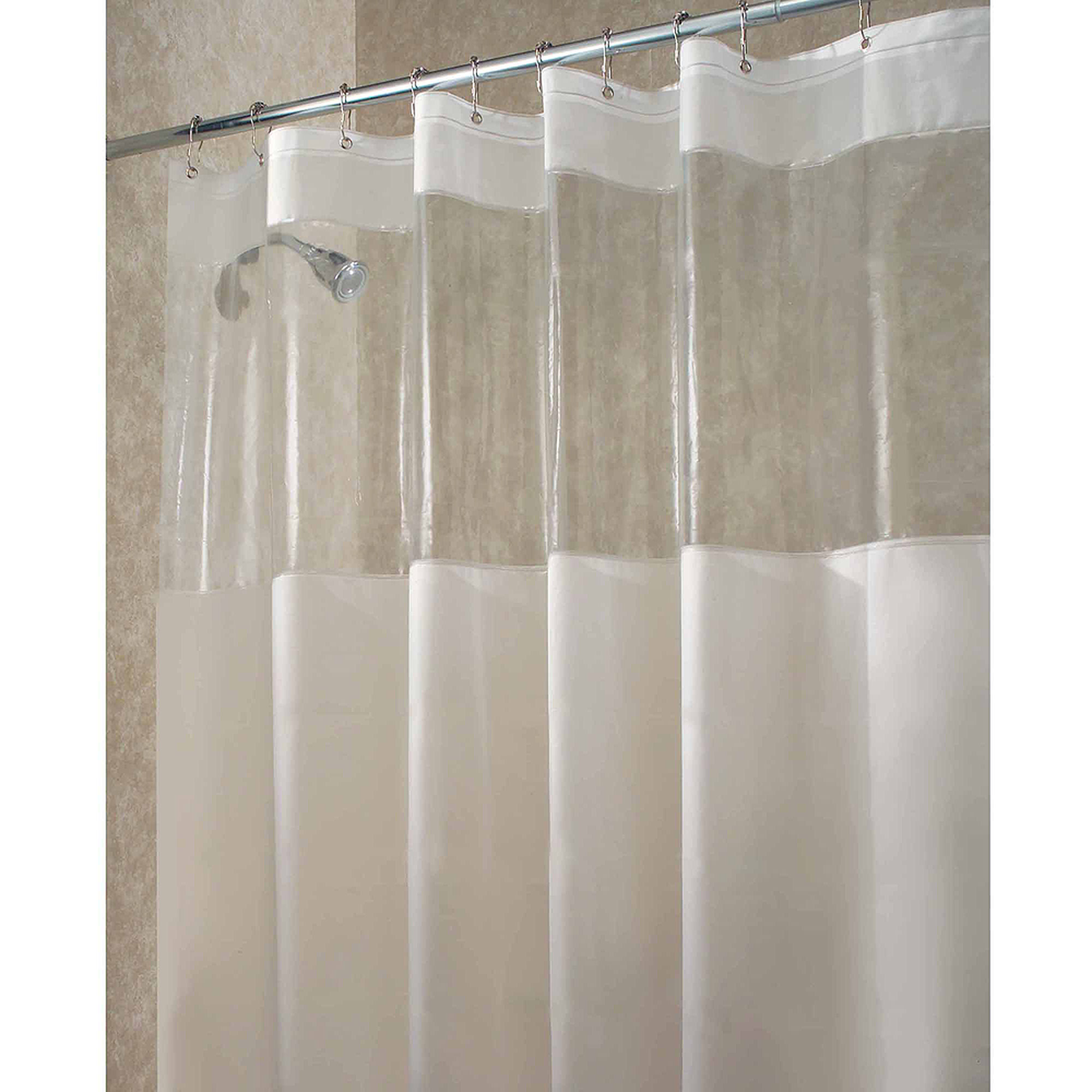 "InterDesign Hitchcock EVA Shower Curtain, Standard 72"" x 72"", Clear"