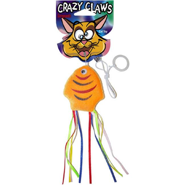 Sergeants Pet Care Products Crazy Claws Fish With Ribbons Soft Cat Toy  49962