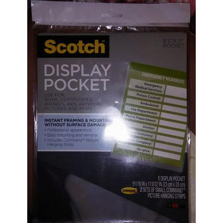 Scotch Display Pocket, Removable Interlocking Fasteners, Plastic 021200506925