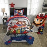 Super Mario Odyssey Bed in a Bag Bedding Set, Caps Off