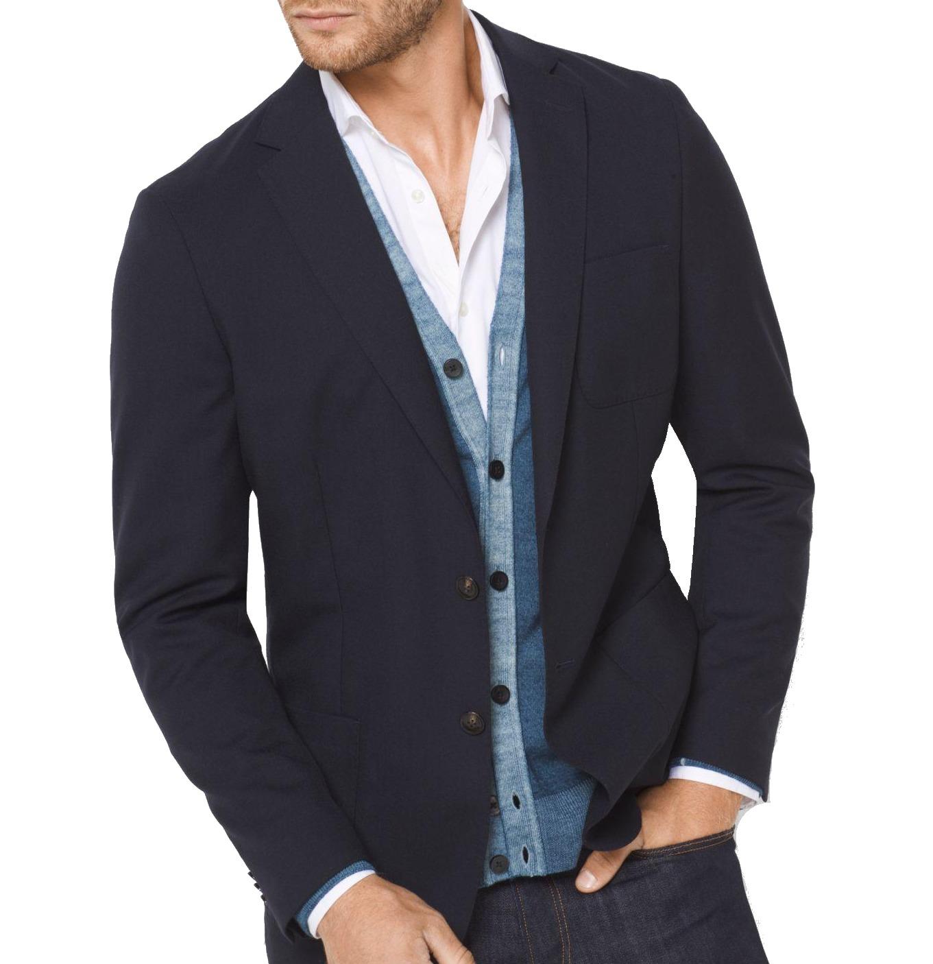 Michael Kors NEW Midnight Blue Mens Size 44 Two Button Wool Blazer