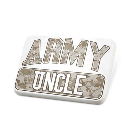 Porcelein Pin ARMY Uncle, Camo Lapel Badge – NEONBLOND