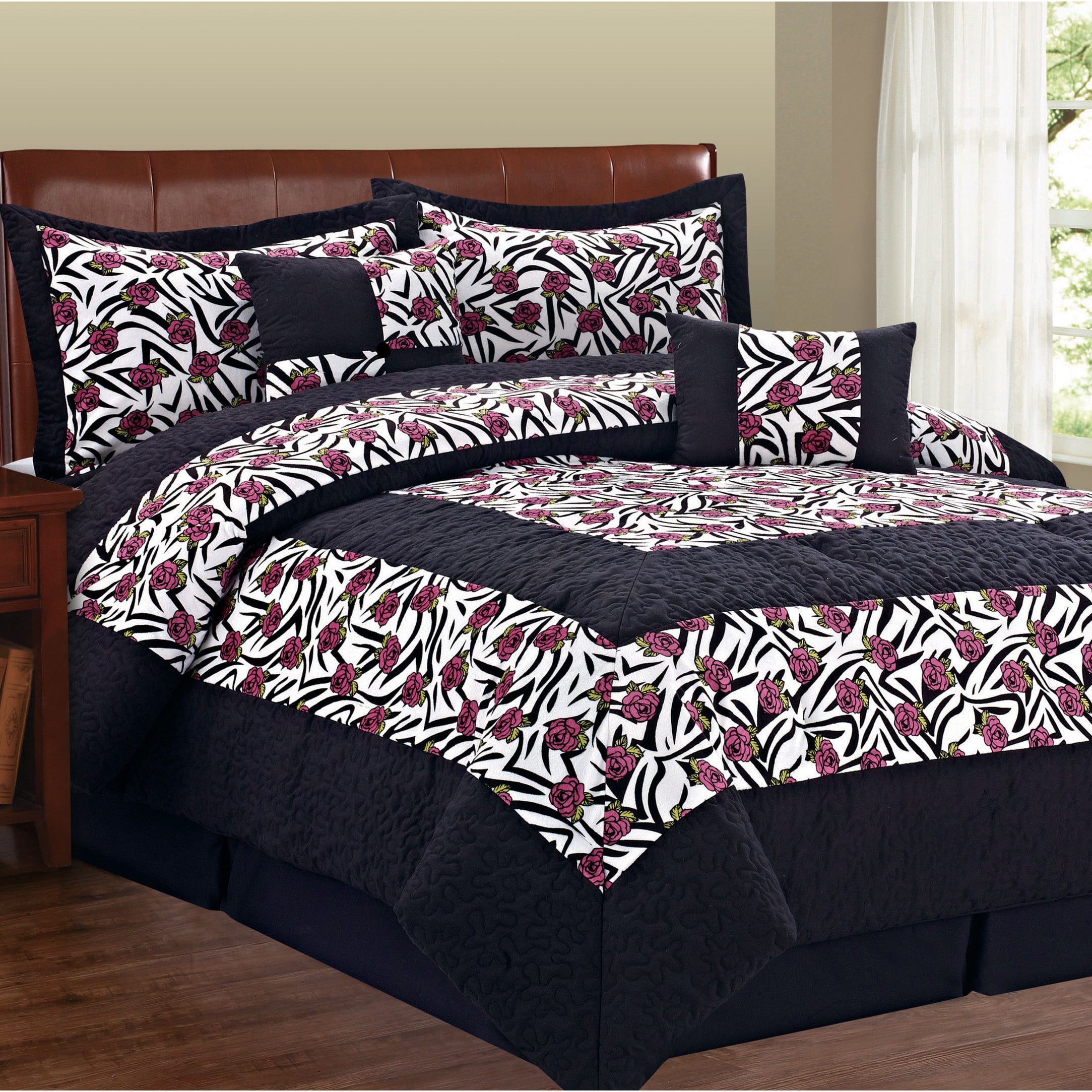 BNF Home Serenta Animal Flower 6-piece Comforter Set