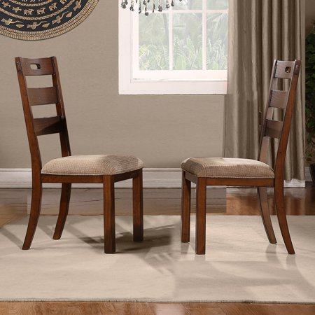 Weston Home Clayton Side Chair (Set of 2), Rustic