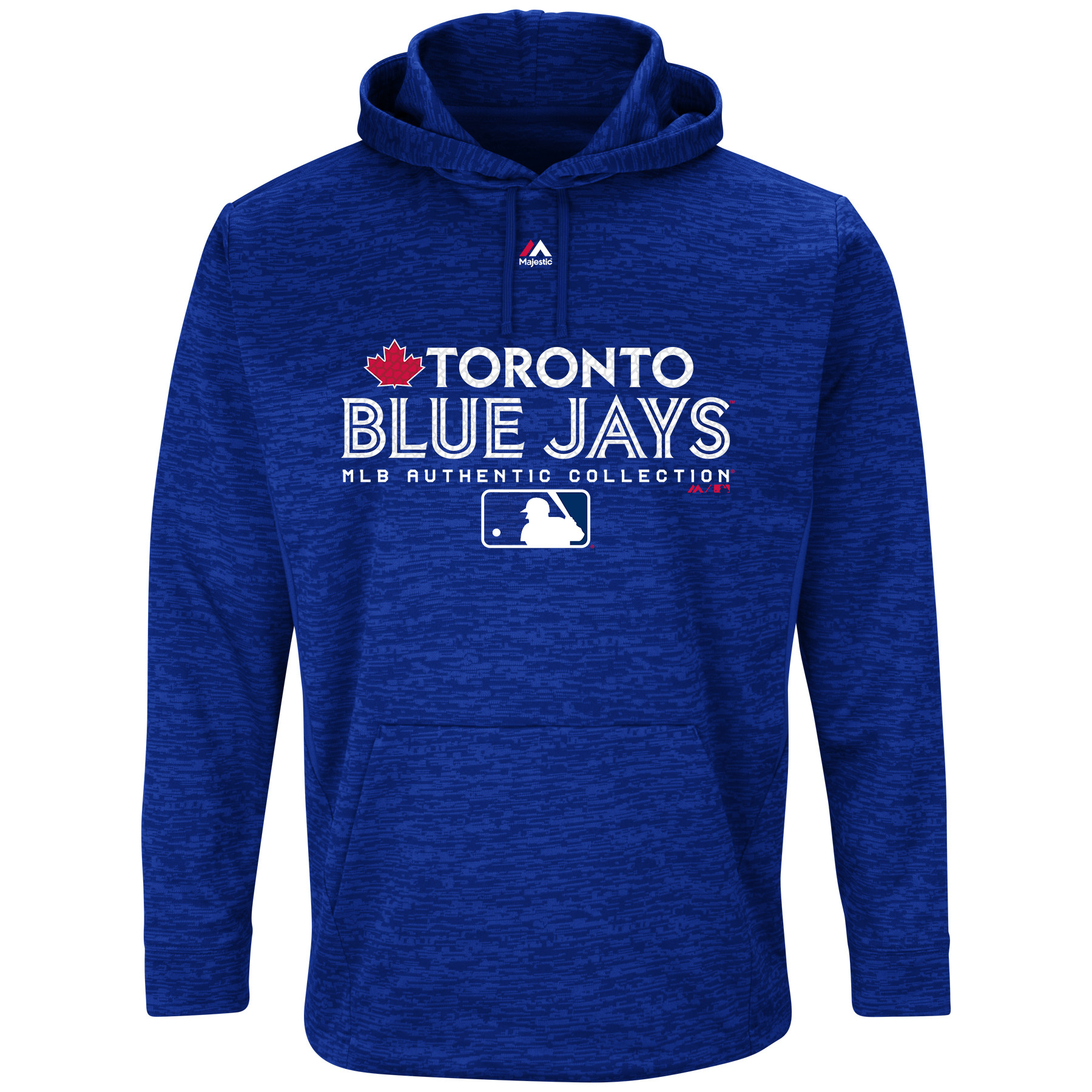 Toronto Blue Jays Majestic Authentic Collection Team Drive Ultra-Streak Fleece Pullover Hoodie - Royal