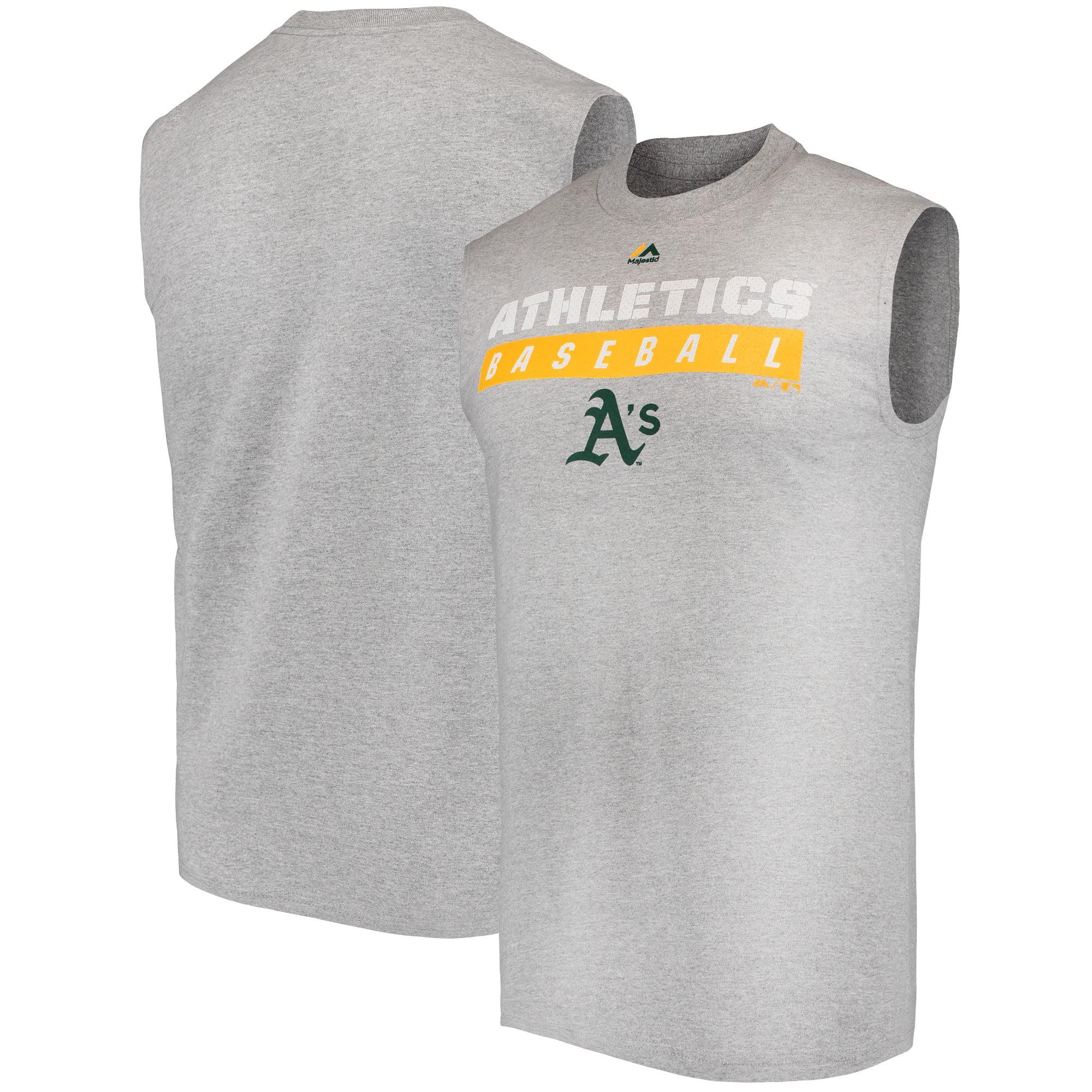 Oakland Athletics Majestic Proven Pastime Sleeveless T-Shirt - Gray