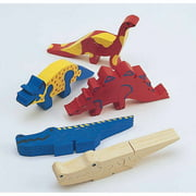 Unfinished Wooden Animal Puzzle, Dinosaurs Unassembled, Pack of 12