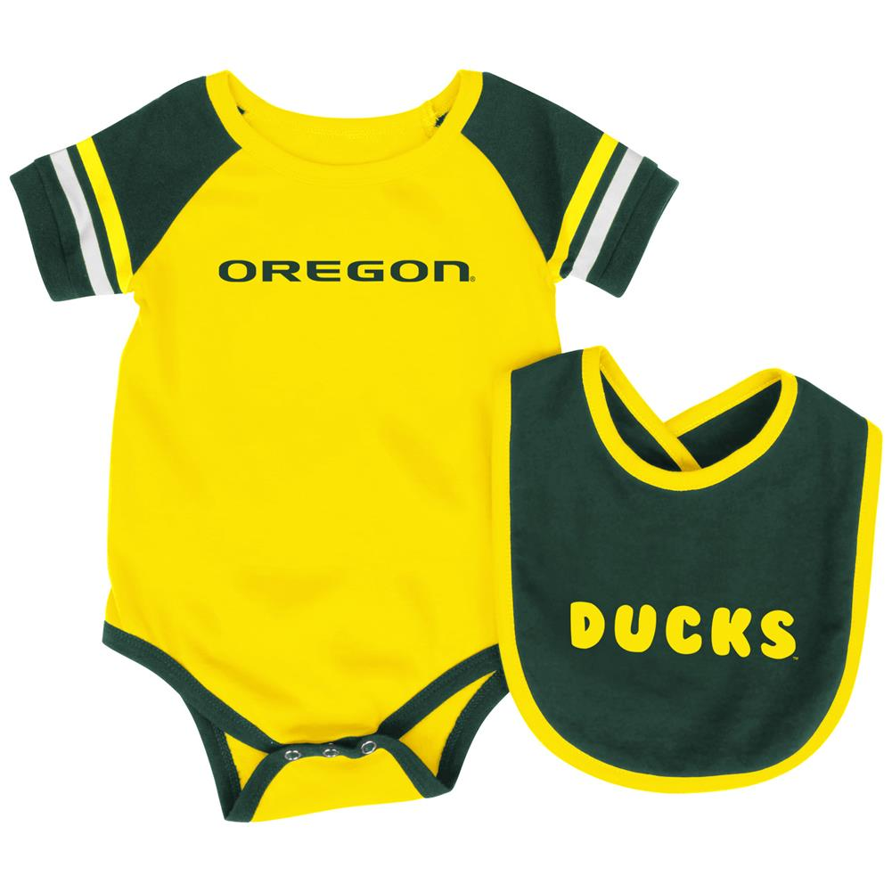 University of Oregon Ducks Baby Bodysuit and Bib Set Infant Jersey by Colosseum