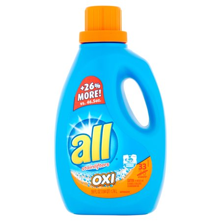 All With Stainlifters Oxi Liquid Laundry Detergent  59 Fl Oz