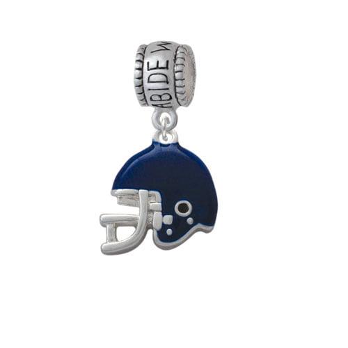 Small Blue Football Helmet - Abide With Me Charm Bead