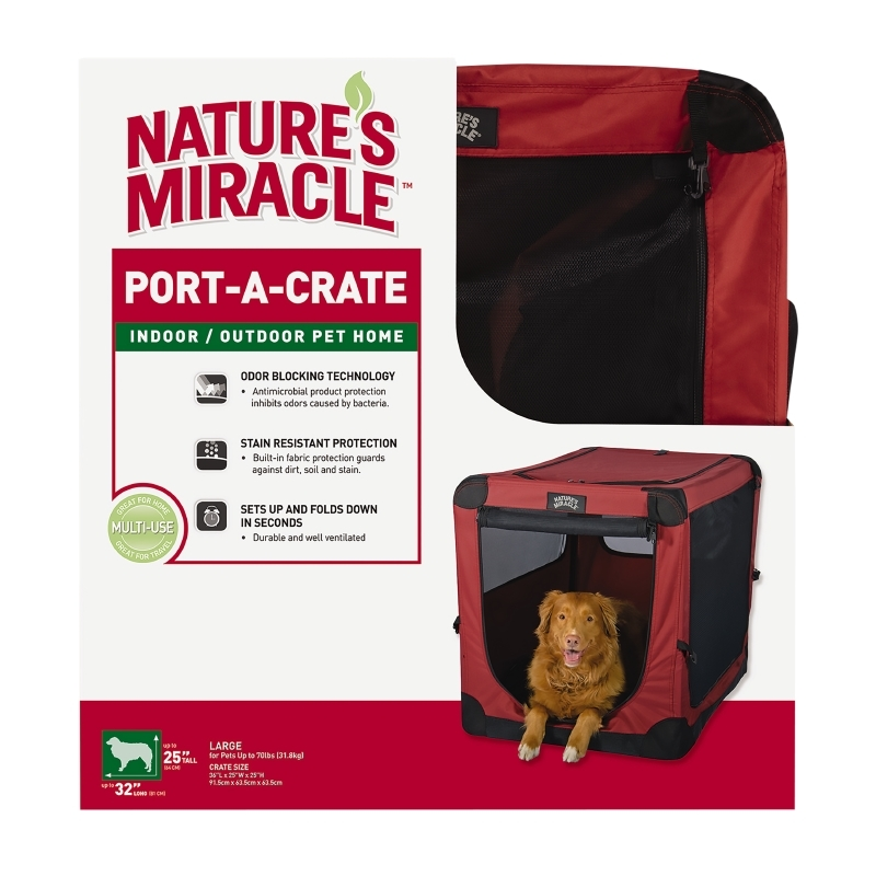 """Nature's Miracle 36"""" Port-a-Crate (for pets up to 70 lbs)"""