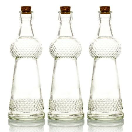 Vases Bulk (BULK PACK (3) Savannah Vintage Clear Vintage Glass Bottle Wedding Flower)
