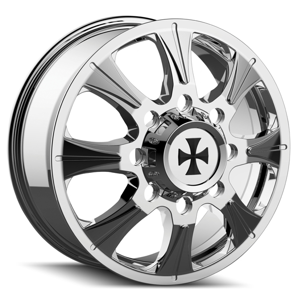 "20"" Inch Cali OffRoad 9 Brutal Dually Rear 8x210 Chrome Wheel Rim"