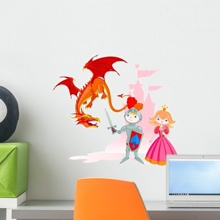 Brave Knight Wall Decal by Wallmonkeys Peel and Stick Graphic (18 in W x 16 in H) WM37522