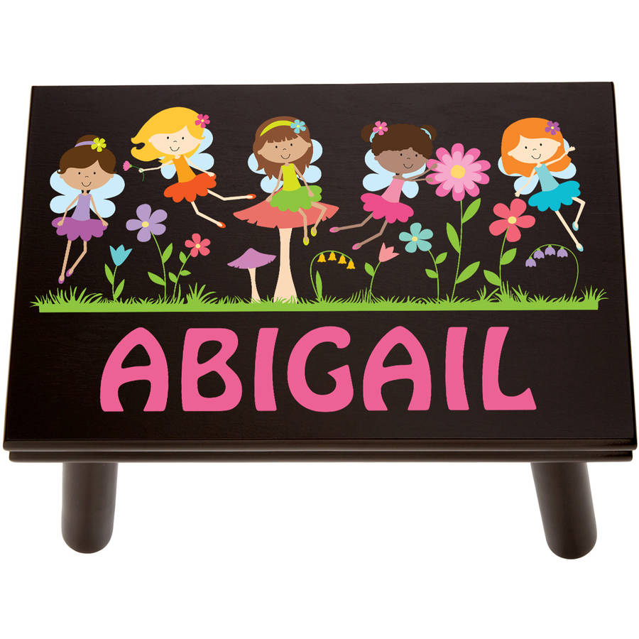 Personalized Fairy Princess Step Stool, Espresso by Generic