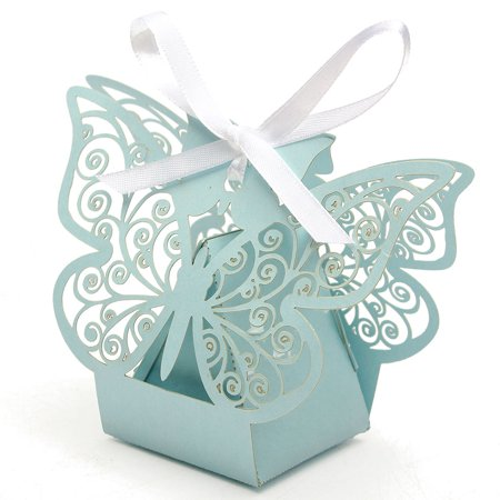 951f2434105a Moaere 10Pcs Butterfly Wedding Favor Boxes Candy Favor Case Party Gift Wrap  Bags for Bridal Shower Anniverary - Walmart.com