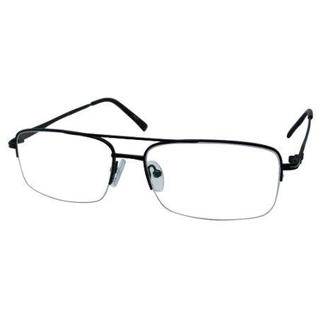Ebe Men Black Wayfarer Half Rim Regular Hinge Eyewear Reading Glasses (Wayfarer Glasses Men)