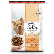 Purina Bella Natural Bites Plus Vitamins and Minerals With Real Chicken & Beef and Accents of Sweet Potatoes & Spinach Adult Dry Dog Food - 12 lb. Bag