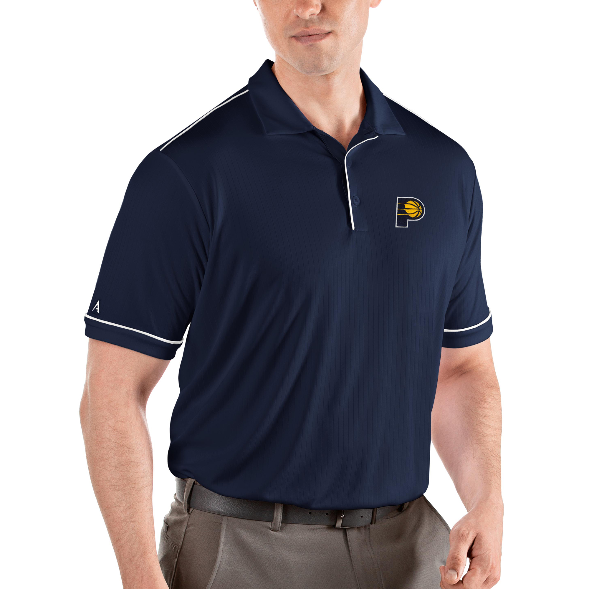 Indiana Pacers Antigua Salute Polo - Navy/White