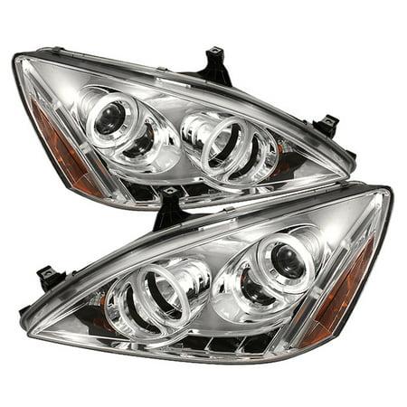 - Sonar LED CCFL Halo Projector Headlights - 03- 07 Honda Accord